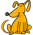 cartoon doodle of funny dog vector image vector image