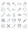 collection outline repair and building tools vector image