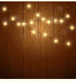 colorful christmas light on night background vector image