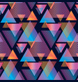 concept triangle geometric seamless pattern vector image vector image