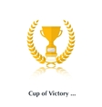 Cup and laurel vector image vector image