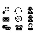 customer service icon set vector image