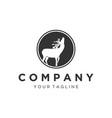 deer logo designs inspirations vector image vector image