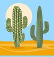 desert plant nature cactus vector image vector image