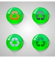 Detailed glossy arrow buttons with long shadow vector image vector image