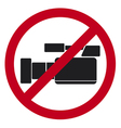 do not record video sign vector image vector image