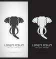 elephant head design on white background vector image