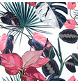 fashionable seamless tropical pattern vector image