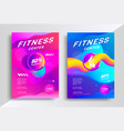 fitness center flyer vector image vector image