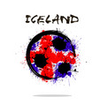 flag of iceland as an abstract soccer ball vector image vector image