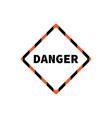 flat yellow hazard warning symbol warning icon vector image vector image