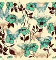 Flowers and butterflies seamless pattern