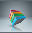 four color box icon vector image