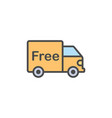 free shipping flat icon sign symbol vector image
