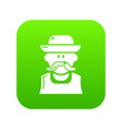 gardener man icon green vector image
