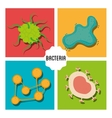 Germs and bacteria cartoon vector image