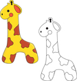 Giraffe Toy vector image