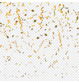 gold confetti on a transparent background vector image vector image