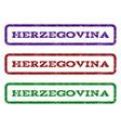 herzegovina watermark stamp vector image vector image