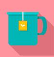 hot tea mug icon flat style vector image