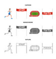isolated object of sport and winner logo set of vector image vector image