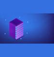 isometric server rack concept vector image