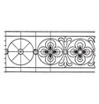 latin evangeliarum rosette band is an 8th century vector image vector image