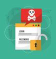 login password danger notification unlock vector image