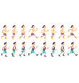 man and woman character running people animation vector image vector image