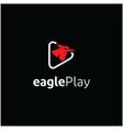 modern eagle bird media logo icon vector image vector image