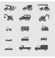 monochrome set with transportation icon vector image vector image