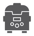 multicooker glyph icon kitchen and household vector image vector image