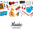musical instruments background vector image vector image