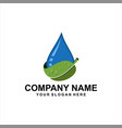 natural water logo vector image vector image