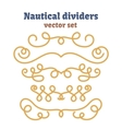 Nautical ropes Dividers set Decorative vector image vector image