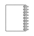 notebook closed isolated vector image vector image