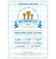 oktoberfest beer festival celebration typography vector image