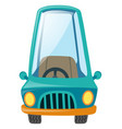 one blue car on white background vector image vector image