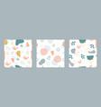 organic shapes seamless pattern set minimal vector image vector image