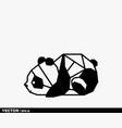origami cute panda vector image