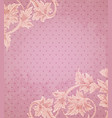 pink retro background vector image vector image