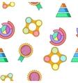 Presentation pattern cartoon style vector image vector image