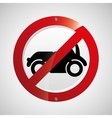 prohibited traffic sign car round icon design vector image vector image