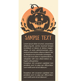 pumpkin card vector image