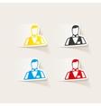 realistic design element dealer casino vector image vector image