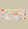 reminder stickers designs vector image