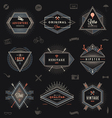 Set of hipster trendy emblems labels and sign vector image