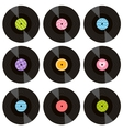 set of vinil records vector image vector image