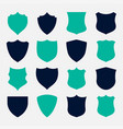 set shield symbols and icons design vector image