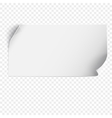 Sheet of paper template vector image vector image